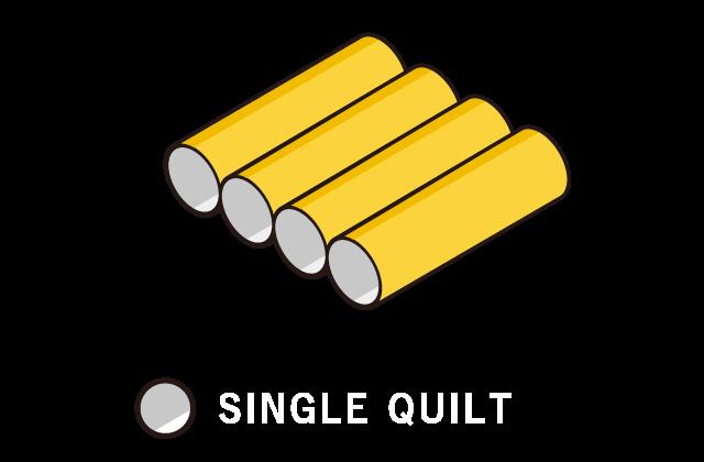 Single quilt construction