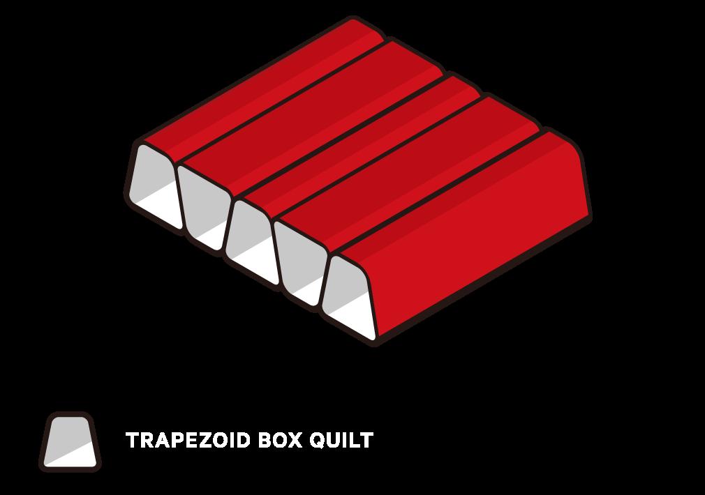 Trapezoid box baffle structure