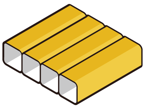 Box baffle construction