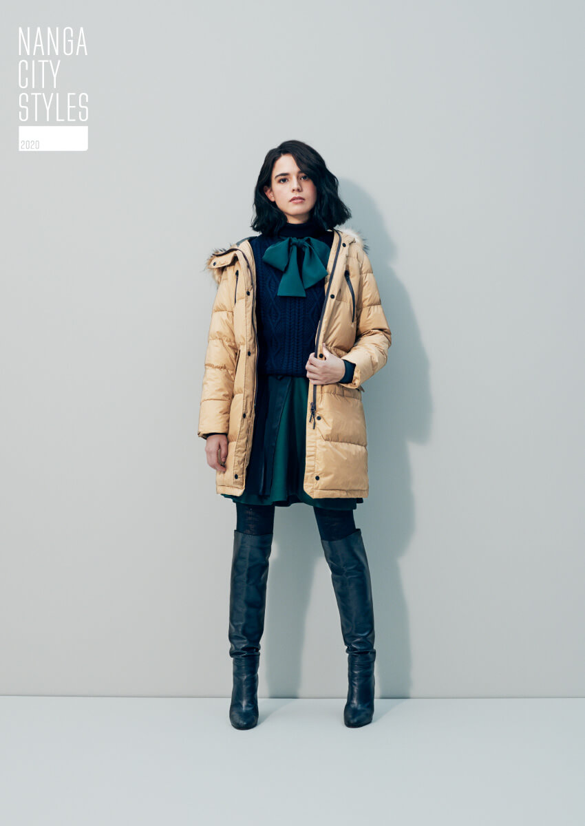 LADY'S DOWN HALF COAT