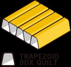 台形ボックスキルト構造
